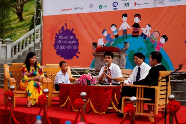 Tọa đàm tại Lễ phát động Tuần lễ toàn cầu hành động vì Giáo dục. Ảnh: KT